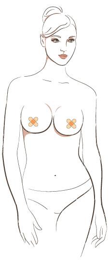 女性曲线胖瘦手绘