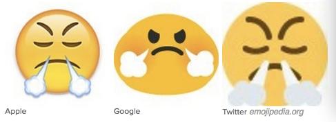 沮丧表情矢量图